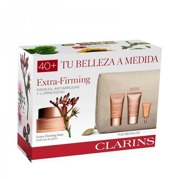 Clarins Extra Firming All Skin 50 ml Gift Set Eye Contout 3 ml + Cleasing Cream 30 ml + Extra Firming Night 15 ml