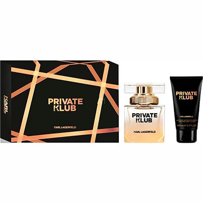 Karl Lagerfeld Private Klub Gift Set Eau de Parfum 45 ml + Body Milk