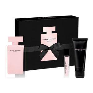 Narciso Rodríguez Her Eau de Parfum 100 ml + Megaspritzer 10ml + Body Lotion