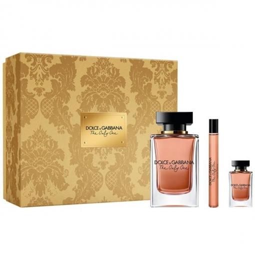 Dolce and Gabbana The Only One Eau de Parfum 100ml Gift Set Miniature 10ml + Travel Spray 7