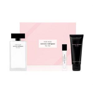 Narciso Rodríguez For Her Pure Musc Eau de Parfum Gift Set Miniature 10ml + Body Lotion 75ml