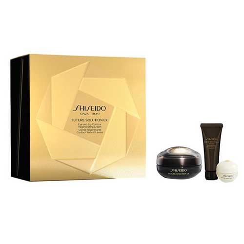Shiseido Future Solution Lx 50ml Gift Set Future Solution Lx Eye and Lip 17ml + Future Solution Lx Cleansing Foam 15ml + Future Solution Lx Lotion Concentrate 25ml + Future Solution Lx Protective Cream 6ml
