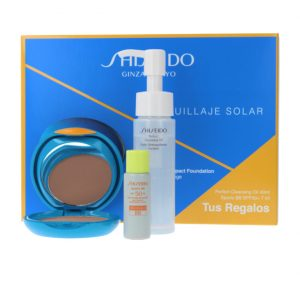 Shiseido UV Protective Compact Foundation SPF 30 Gift Set Cleansing Oil + Sport Protective SPF 50+