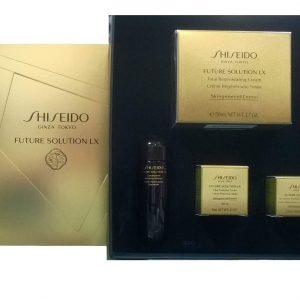 Shiseido Future Solution Lx Night Cream 50 ml Gift Set  Eye and Lips Cream 2.5 ml + Balancing Softener 25 ml + Day Cream 6 ml