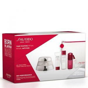 Shiseido Bio-Performance Advanced Super Revitalizing Cream Gift Set Clarifying Cleansing Foam + Treatment Softener + Ultimune Power Infusing Concentrate + Ultimune Eye + Dressing Case