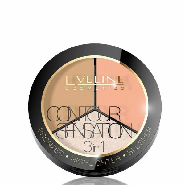 Eveline Contour Sensation 3 in 1 Bronzer Highlighter Blusher