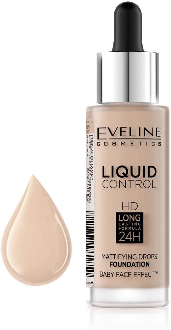 Eveline Liquid Control 24H Mattifying Drops Foundation