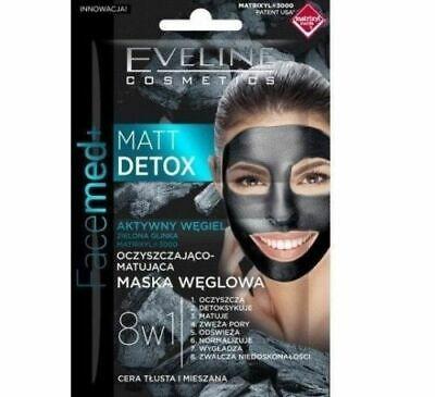 Eveline Matt Detox Carbon Mask 8in1