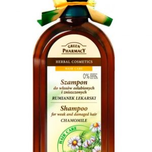 Green Pharmacy Shampoo For Weak and Demaged Hair With Chamomile
