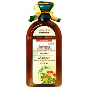 Green Pharmacy Shampoo For Oily Scalp and Dry end Ginseng
