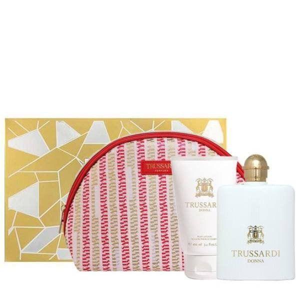 Trussardi Donna Eau de Parfum 100 ml Gift Set Body Lotion 100 ml + Dressing Case