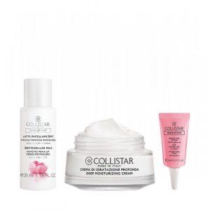 Collistar Deep Hydration Cream 30 ml + Micellar Milk 3 In 1+ Hydro Eye Gel.