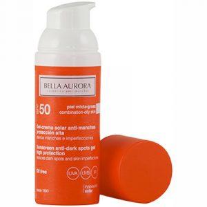 Bella Aurora Sunscreen Gel Oily Skin SPF 50