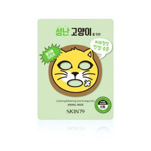 Skin 79 Animal Mask Calming And Soothing Care For Angry Cat 23gr